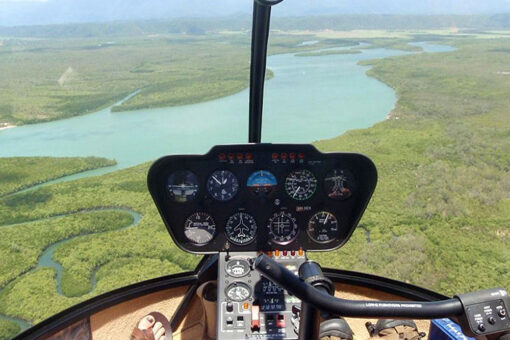 Helicopter tour cockpit